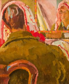 Duncan Grant. Painting in a Mirror by Vanessa Bell...♔..