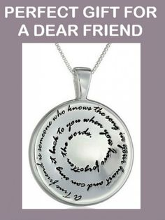 A True Friend- Sterling Silver Necklace with a Circle Pendant #sterling_silver #925_sterling_silver #Amazon_Collection #gift_for_a_friend #friendship