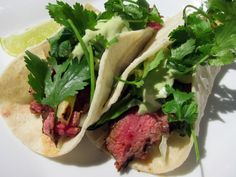 Chipotle steak tacos
