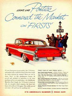 1957 Pontiac Ad. #classiccars