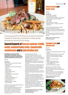 Flavours to fall for. Immerse yourself in the tastes of the season. Venison, Beef, Farnham Surrey, Apple Soup, Autumn, Fall, Sweet Potato, Potatoes, Stuffed Peppers