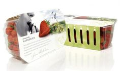 Lovely packaging for freshly picked strawberries...but yet again another example of boring packaging for healthy food.