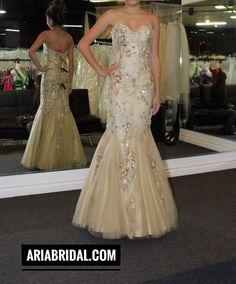 Wedding Dress at Aria Bridal in Escondido, California.
