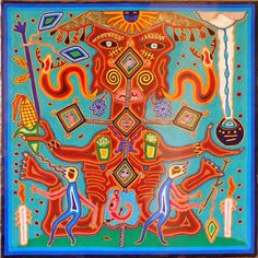 It is native to southwestern Texas and Mexico. Peyote art, art that… View Post South American Art, Native American Art, Arte Tribal, Tribal Art, Psychedelic Art, Graffiti, Yarn Painting, Mexican Embroidery, Art Brut