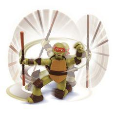 Boneco das Tartarugas Ninja Raphael - Multikids BR286  O Raphael com os seus movimentos encara qualquer desafio! Cada Tartaruga Ninja tem o seu golpe! Basta dar corda, pressionar a cabeça e o movimento automático é acionado! É pura ação!  O Boneco Raphael, vem diretamente das telas do cinema para a sua casa! A aventura não tem hora nem lugar com as Tartarugas Ninja.  Com aproximadamente 15cm de altura, o boneco articulado, é uma réplica perfeita de Raphael! Os meninos irão estimular a sua…
