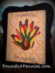 family handprint turkey google search - Printables For Kids To Color