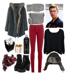 A fashion look from December 2015 featuring cable-knit sweater, parka coat and red jeans. Browse and shop related looks. Melrose International, Red Jeans, Parka Coat, Daniil Kvyat, Badgley Mischka, Cable Knit Sweaters, Alice Olivia, Tommy Hilfiger, Fashion Looks