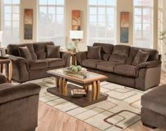 The Argos Coffee sofa/loveseat is a soft, beautiful set with plush comfort