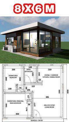 Little House Plans, My House Plans, Bungalow House Plans, Bungalow House Design, Modern House Plans, Small House Plans, Minimal House Design, Modern Small House Design, Simple House Design