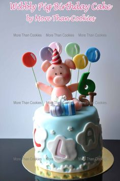 Wibbly Pig Birthday cake - Special Cakes