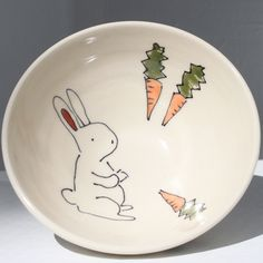 funny bunny bowls by abby berkson