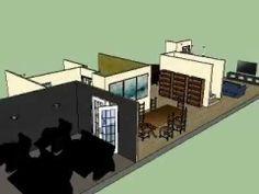 3D Model of a basement remodel..