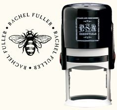 Personalized self-inking stamp. I love this design!!! $45