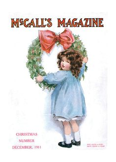 A Little Girl Hanging a Wreath Easy Christmas Crafts, Christmas Past, Very Merry Christmas, Christmas Toys, Xmas, Vintage Christmas Images, Vintage Holiday, Vintage Images, Christmas Greeting Cards