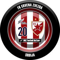 DNZ Football Buttons: FK Crvena Zvezda