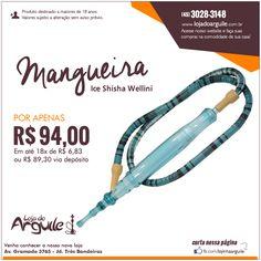 Mangueira Ice Shisha Wellini POR APENAS R$ 94,00 Em até 18x de R$ 6,83 ou R$ 89,30 via depósito  Compre Online: http://www.lojadoarguile.com.br/mangueira-ice-shisha-wellin