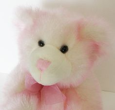 "Build a Bear Breast Cancer Pink Sparkly 12"" Awareness Ribbon Plush Stuffed Toy"