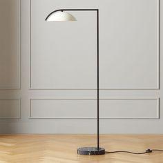 Belgrave White Globe Floor Lamp | CB2 Glass Floor Lamp, Bronze Floor Lamp, White Floor Lamp, Contemporary Armchair, Contemporary Floor Lamps, Modern Floor Lamps, Arc Lamp, Art Deco Decor, Bathroom Light Fixtures