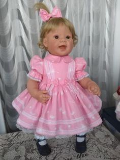 Baby Doll Clothes, Baby Dolls, Girls Dresses, Flower Girl Dresses, Wedding Dresses, Pink, Fashion, Layette, Baskets