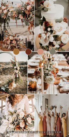 Green Fall Weddings, Sage Green Wedding, Fall Wedding Colors, Wedding Color Schemes, September Wedding Colors, Wedding Color Pallet, Rustic Wedding Colors, Boho Wedding Decorations, Wedding Ideas For Spring