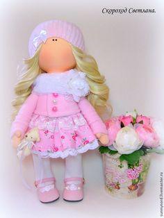 Купить Софии - розовый, кукла ручной работы, кукла в подарок, куклы и игрушки, кукла текстильная