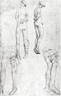 Pisanello: Drawings of a hanged man