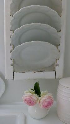 porta platos con una persiana vieja