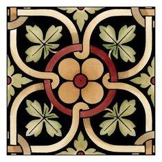 Art Print: Decorative Tile Art Print : – T-Shirts & Sweaters Art Nouveau Tiles, Art Nouveau Design, Art Prints Quotes, Wall Art Prints, Tile Patterns, Pattern Art, Azulejos Art Nouveau, Jugendstil Design, Bathroom Art