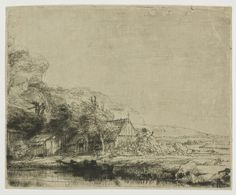 Buy online, view images and see past prices for REMBRANDT VAN RIJN Landscape with a Cow. Invaluable is the world's largest marketplace for art, antiques, and collectibles. Rembrandt Etchings, Rembrandt Drawings, Rembrandt Paintings, Landscape Drawings, Landscape Paintings, Van Gogh Zeichnungen, Ecole Art, Art Database, Art Google