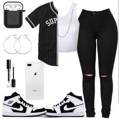 Outfits For School Black Girl Summer Outfits For School Black Girl Dope Outfits black girl outfits school Summer Swag Outfits For Girls, Cute Lazy Outfits, Teenage Outfits, Girls Summer Outfits, Cute Outfits For School, Teen Fashion Outfits, Cute Casual Outfits, Nike Outfits, Sporty Outfits