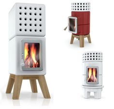 ceramic wood stove / fireplace- sorta looks like the one I had growing up in Northern Minnesota