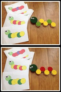 Felt Glued to Tops of Milk Caps and Pattern sheets created. Cute!