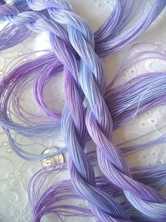 Size 20 - hand dyed tatting and crochet cotton -  6 cord cordonnet - LAVENDER by Yarnplayer