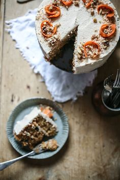 Carrot Cake with Honey Buttercream