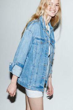 Musthaves - casual denim jacket #fashion #trend #denim #zara