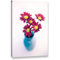Elena Ray Modern Flowers Gallery-Wrapped Canvas Art, Size: 16 x 24, White