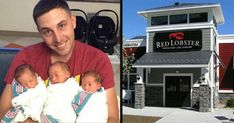 Stranger scribbles note on dad's bill about his 2 kids, doesn't know one of his triplets recently died 1 Year Old Girl, Military Couples, Ivf Treatment, Third Baby, Red Lobster, Nicu, 1 Year Olds, Triplets, Quality Time