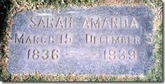Sarah Amanda Waterman Engle's Grave Marker