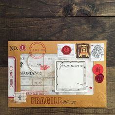 OUTGOING MAIL • A window envelope... A little peek for Mr. Or Ms. Postie too ☺︎