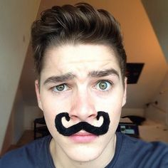 Jack Harries in support of 'Movember'