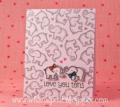 Lawn Fawn - Love You Tons + coordinating dies _ love the fun stamped background on Elise's awesome card design _  Flickr - Photo Sharing!
