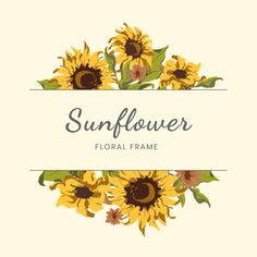 More than 3 millions free vectors, PSD, photos and free icons. Exclusive freebies and all graphic resources that you need for your projects Sunflower Design, Sunflower Pattern, Flower Circle, Flower Frame, Sunflower Wallpaper, Sunflower Wreaths, Beige Background, Frame Wreath, Clip Art