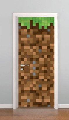 Adesivo para Porta Minecraft VI8995