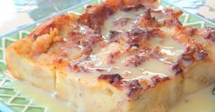 How good does it get? Sometimes you can't get that one dessert that was so delicious out of your head. This is... Southern Bread Pudding Recipe, Bread Pudding Sauce, Bread And Butter Pudding, Vanilla Bread Pudding Recipe, Bread Pudding Recipe Without Raisins, Easy Desserts, Delicious Desserts, Dessert Recipes, Yummy Food