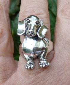 Dachshund Dog RingDog Jewelry-Front End of Dachshund
