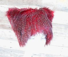 Faux Fur Hat  Black Cherry  Red Black Grizzly by RunzwithScissors, $27.00