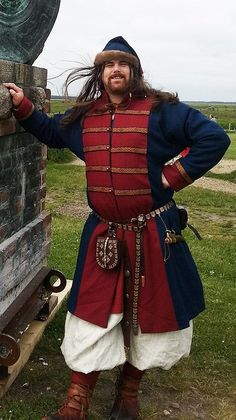 Viking in handsewn wedding garment!