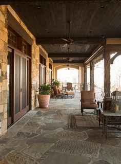 Rustic Lodge style home - Rustic - Patio - Houston - Collaborative Design Group-Architects & Interiors