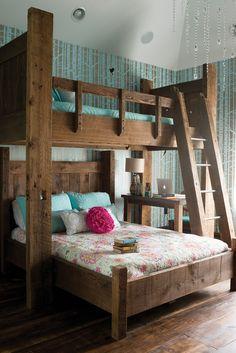 16 удачных примеров размещения двухъярусных кроватей в детских комнатах – Вдохновение