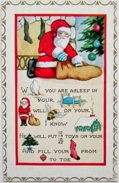 postcardiva postcard blog: Whitney REBUS CHRISTMAS Postcards